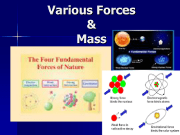Force, Mass, Weight, Normal Force