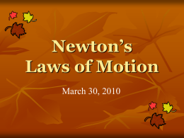 Newton`s Laws - Uplands blogs