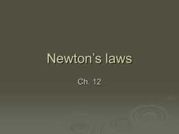 Newton`s Laws PPT