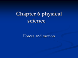 Chapter 6 physical science