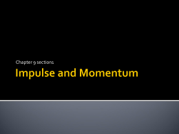 impulse and momentum power point