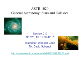 ASTR 1120 General Astronomy: Stars and Galaxies