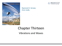 Rooney AP Physics - Ch 13 Vibrations and Wavesx
