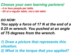 torque and circular motion quiz