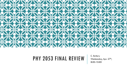phy 2053 final review