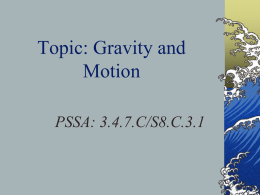 Gravity and Falling Objects - Western Beaver County School