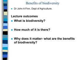 Why does it matter- what are the benefits of biodiversity?