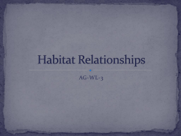 Habitat Relationships - Effingham County Schools