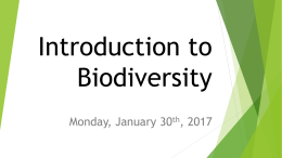 Introduction to Biodiversity - Liberty Union High School District