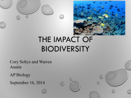 Warren Austin and Cory Soltys Aquatic Biodiversity