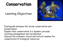 conservation - Beaconsfield High School Virtual Learning
