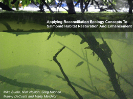 Applying Reconciliation Ecology Concepts To Salmonid Habitat