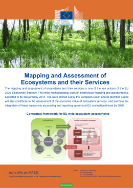 Mapping and Assessment of Ecosystems and - CIRCABC