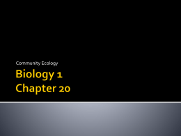 Biology 1 Chapter 20