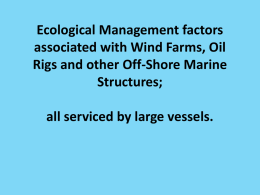 Ecological Management factors associated with Wind Farms