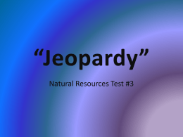 Jeopardy - NAAE Communities of Practice