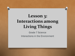 Interactions among Living Things