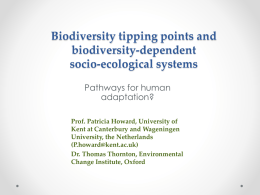 Biodiversity tipping points at local scale in biodiversity