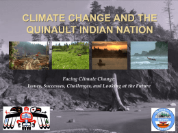 Climate Change and the Quinault Indian nation
