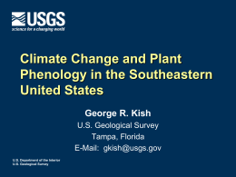 FL Plant Phenololgy - USA National Phenology Network