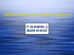 Ocean Uses and Human Impacts