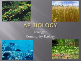 Ecology Community Relationships ppt.