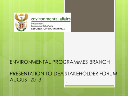 Environmental Programmes Branch