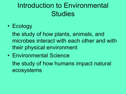 Principles of Ecosystems