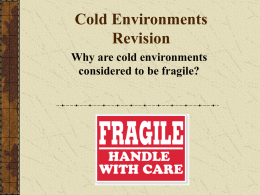 Cold Environments revision lesson 2