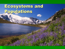 Interactions in Ecosystems - Salisbury Composite High School