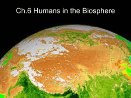 ch6 humans in the world