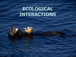 Ecological Interactions - Westhampton Beach Elementary School