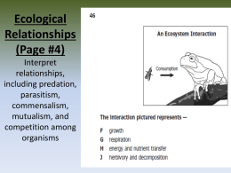 Biology EOC #14: Relationships Interpret relationships