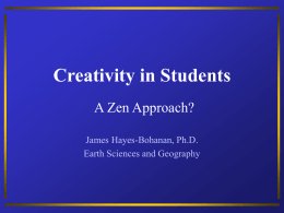 Creativity in Students - Bridgewater State University
