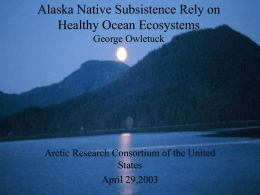 The Importance of Healthy Ocean Ecosystems for Alaska
