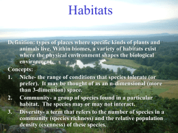 Habitats - Bird Conservation Research, Inc.
