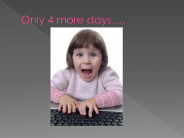 Only 4 more days…. - Rochester Community Schools