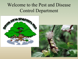 Pest and Disease Control Department