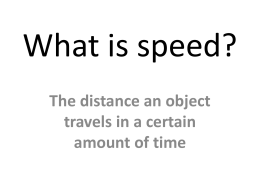 What is speed? - WordPress.com