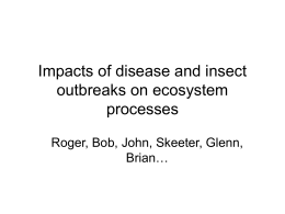Impacts of disease and insect outbreaks on ecosystem processes