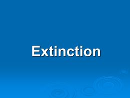 Natural Causes of Extinction