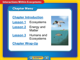 8th Grade Chapter 18 Interactions Within Ecosystems