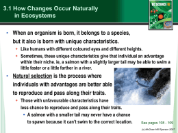 Natural Changes in Ecosystems