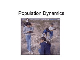 Population Dynamics - Currituck County Schools