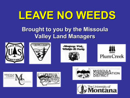 Leave No Weeds