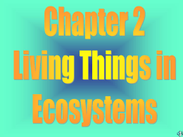 Living Things in Ecosystems
