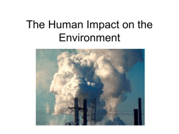 The Human Impact on the Environment