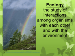 Ecology Intro. Notes