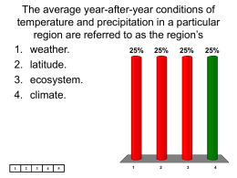 The average year-after-year conditions of temperature and