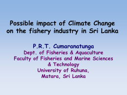 Possible impact of Climate Change on the fishery industry in Sri